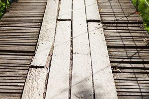 Suspension Bridge made of wood