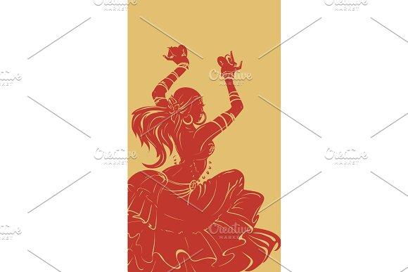 Tribal Fusion Bellydance Dancer Stencil Silhouette Graphic Design