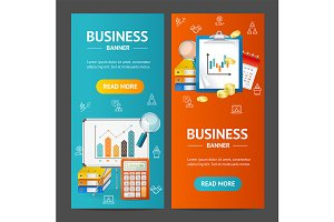 Business Banner Set. Vector
