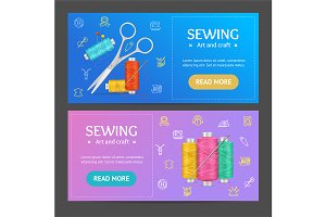 Sewing Banner Horizontal Set