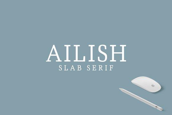 Ailish Slab Serif 3 Font Pack