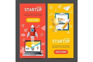 Startup Banner Set. Vector