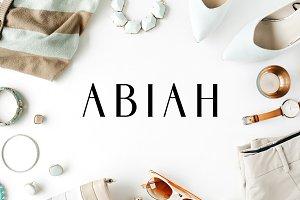 Abiah Sans Serif Font Family Pack