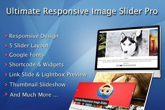Ultimate Responsive Image Slider Pro