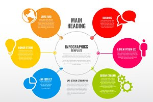 Infographic diagram template