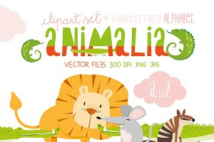 Animalia - Alphabet illustration Set