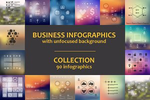 90 BUSINESS INFOGRAPHICS. Collection