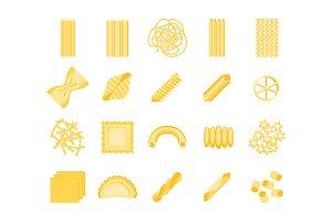 Pasta Set. Vector