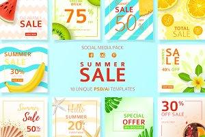 Summer Sale Social Media Pack