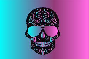 Skull icon gradient vector