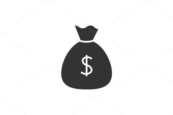 Sack Of Money Black Icon
