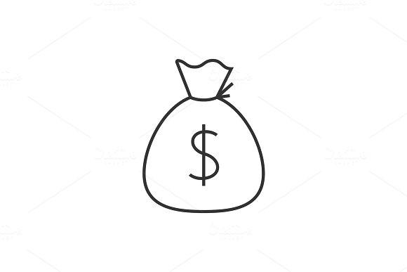 Sack Of Money Outline Icon