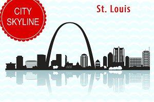 St. Louis city SVG,  Vector Skyline