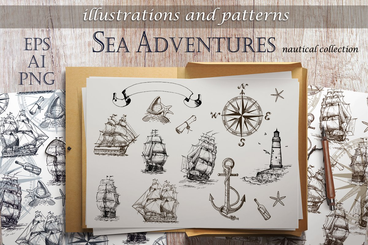 Sea Adventures Collection in Graphics