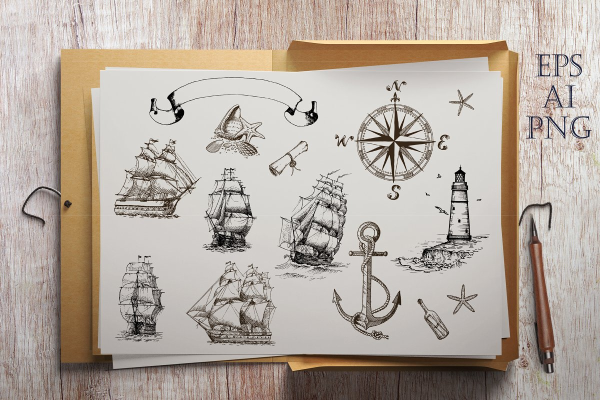 Sea Adventures Collection in Graphics - product preview 1
