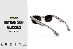 Rayban Sun Glasses Mockup