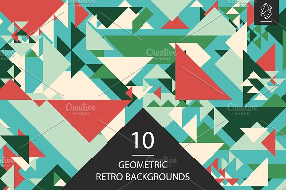 Geometric Retro Backgrounds