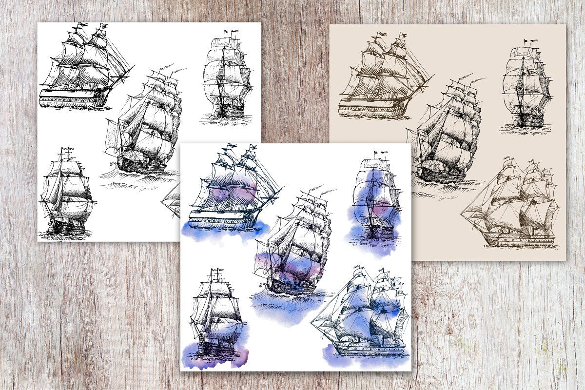 Sea Adventures Collection in Graphics - product preview 3