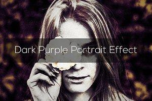Dark Purple Portrait Effect