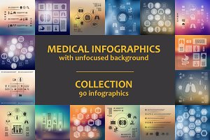 90 MEDICAL INFOGRAPHICS. Collection