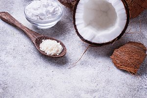 Fresh coconut and coconuts oil