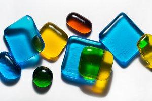colorful decorative glass