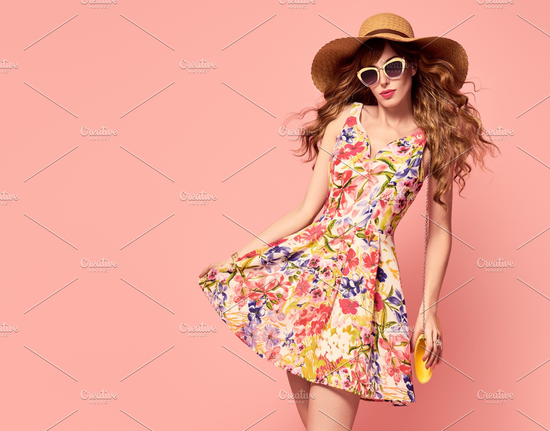 a41805fc6d8 Playful Summer Lady. Floral Dress ~ Beauty   Fashion Photos ...