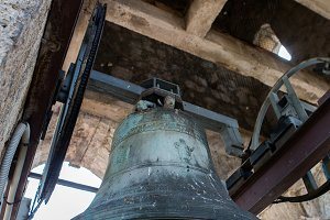 old bells in the ChurchSt. Nicholas Church in Perast,