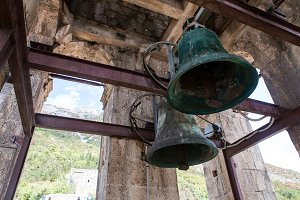 old bells in the Church St. Nicholas Church in Perast,