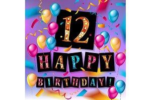 12th Birthday celebration