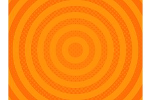 Orange halftone background vector illustration