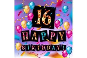 16th Birthday celebration