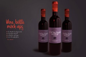 Wine Bottle / Label Mockups