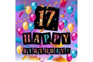 17th Birthday celebration