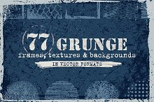 Grunge Textures, Backgrounds, Frames