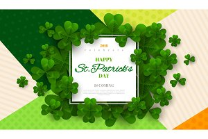 Patrick's Day card with square frame