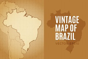 Brazil -  Vintage Map