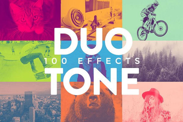 Duotone Effects Photoshop Action