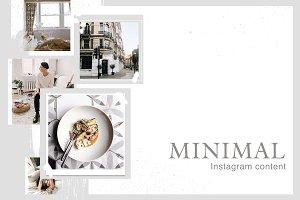 MINIMAL 15 instagram templates