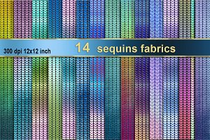 14 sequins fabric backgrounds