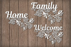 Floral, Home, Family, Welcome SVG