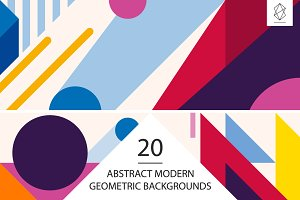 20 Abstract geometric backgrounds