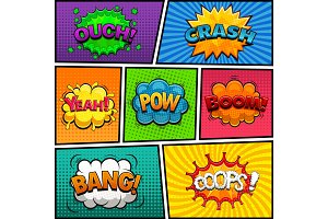 Comic speech bubbles background