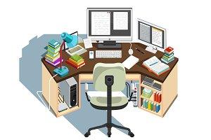 Copywriter workplace
