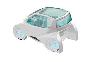 Car futuristic transportation