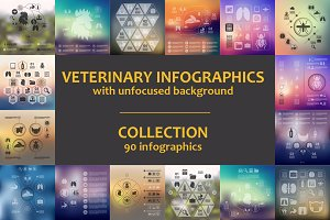 90 VET INFOGRAPHICS. Collection