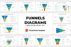 3D Funnels Diagrams PowerPoint
