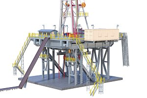 Land rig platform, close view