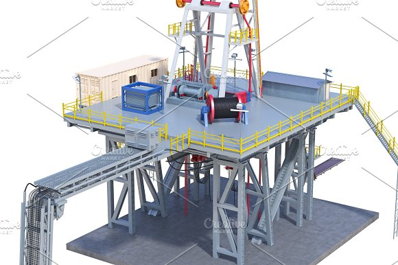 Land Rig Industrial Platform Close View