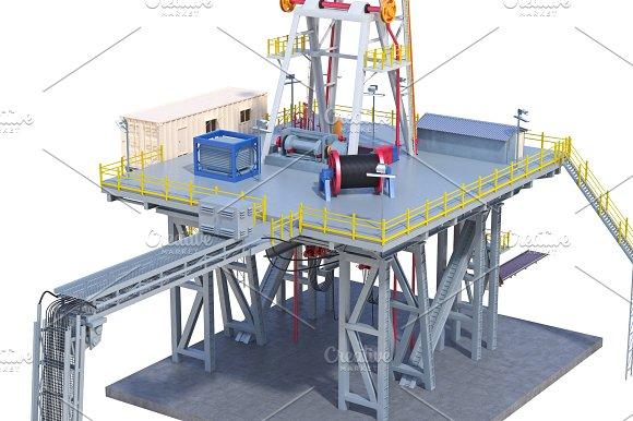 Land Rig Industrial Platform Close View